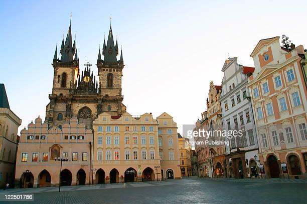 old town square prague - st. nicholas cathedral stock pictures, royalty-free photos & images