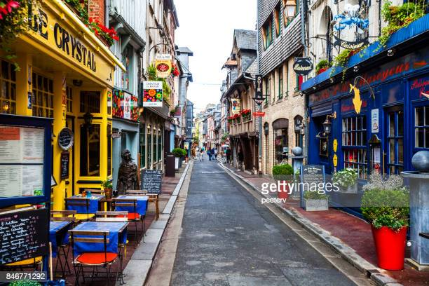 old town streets - honfleur, france - calvados stock pictures, royalty-free photos & images