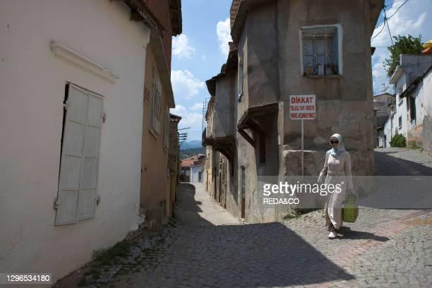 Old town streets. Pergamon. Bergama. Turkey. Europe.