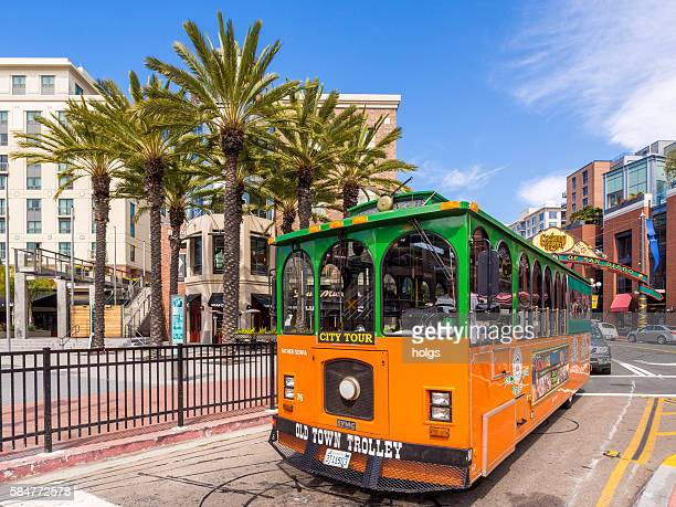 old town trolley - old town san diego stock pictures, royalty-free photos & images