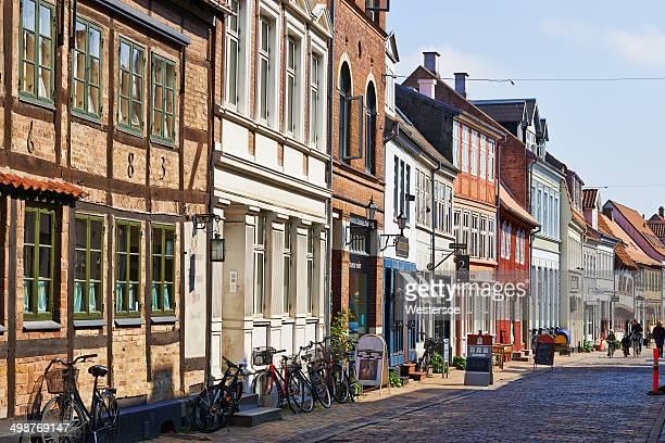 旧市街の通り、小型オーデンセ - オーデンセ ストックフォトと画像