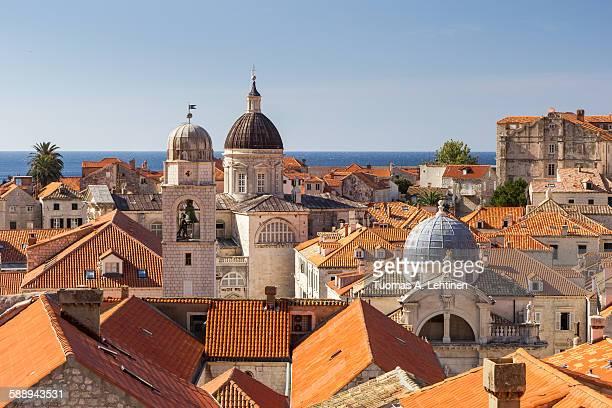 Old Town's skyline in Dubrovnik