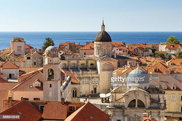 old town's skyline in dubrovnik - ドブロブニク ストックフォトと画像