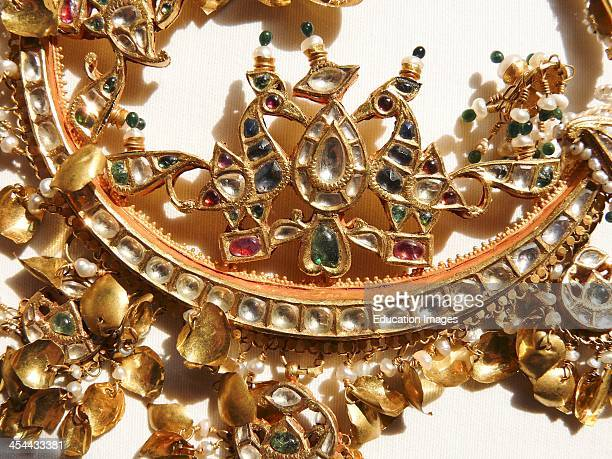 Old Traditional Indian Jewelry Detail Of Nat Or NoseRing