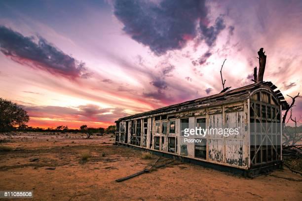 Old trailer in Australian Outback