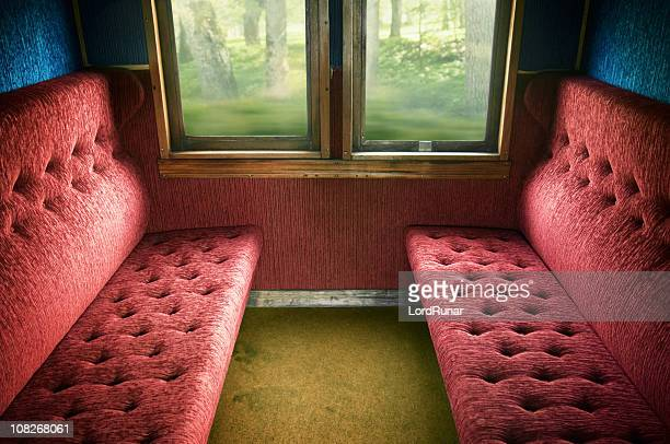 old train compartment - railroad car stock pictures, royalty-free photos & images