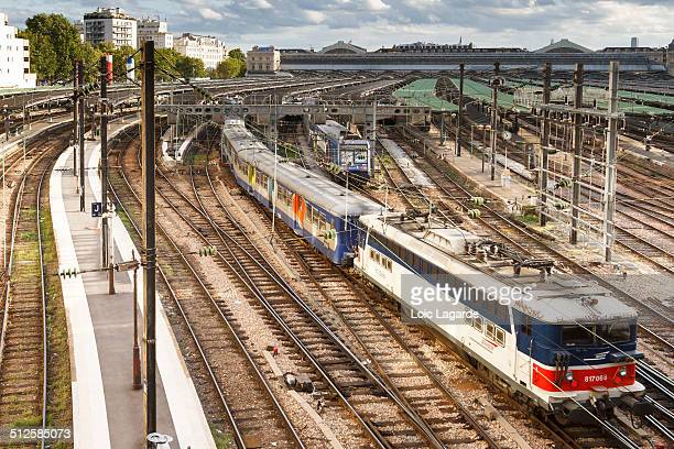 TER old train departing from Gare du Nord paris september 2011
