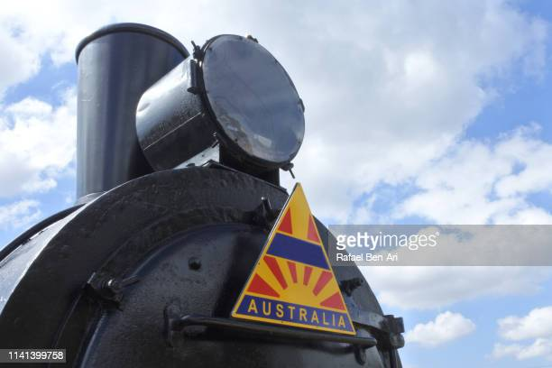 Old train engine in Australia