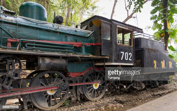 old train history world war ii famous at kanchanaburi,thailand - bridge over the river kwai stock pictures, royalty-free photos & images