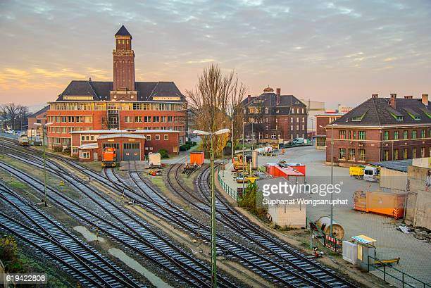 old train station, berlin, germany - fast shutter speed stock photos and pictures