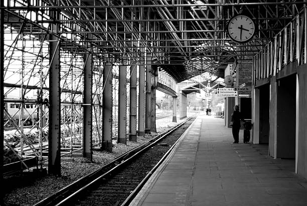 Free Train Station Black And White Images, Pictures, And