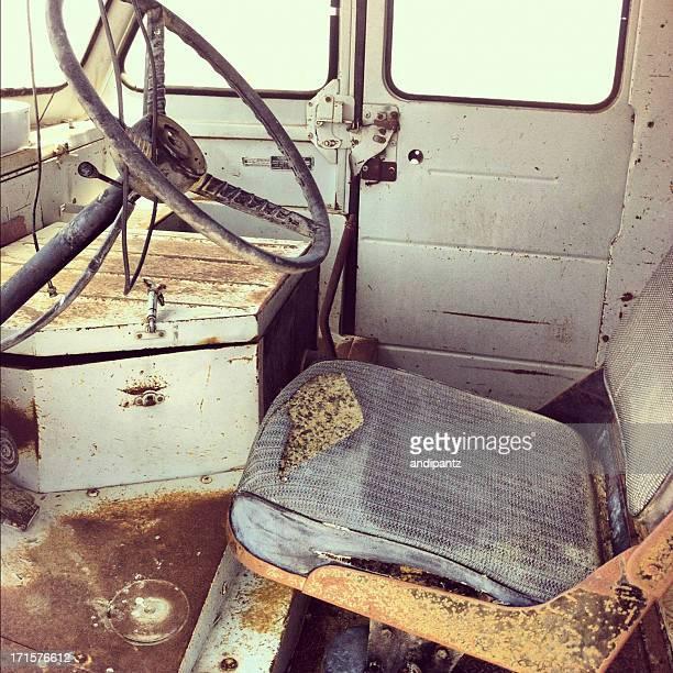 旧トラックのインテリア