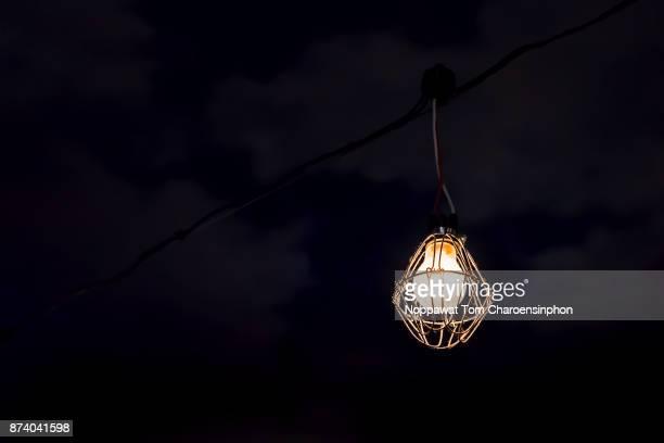 Old tungsten light bulb