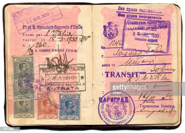 Old Turkish Passport  of 1930's with Stamps