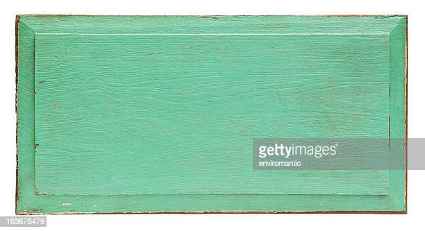 old turquoise wooden panel background. - green wood stock pictures, royalty-free photos & images