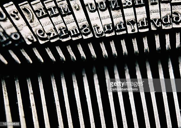 Old typewriter closeup