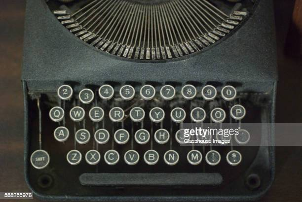 Old Typewriter, High Angle View