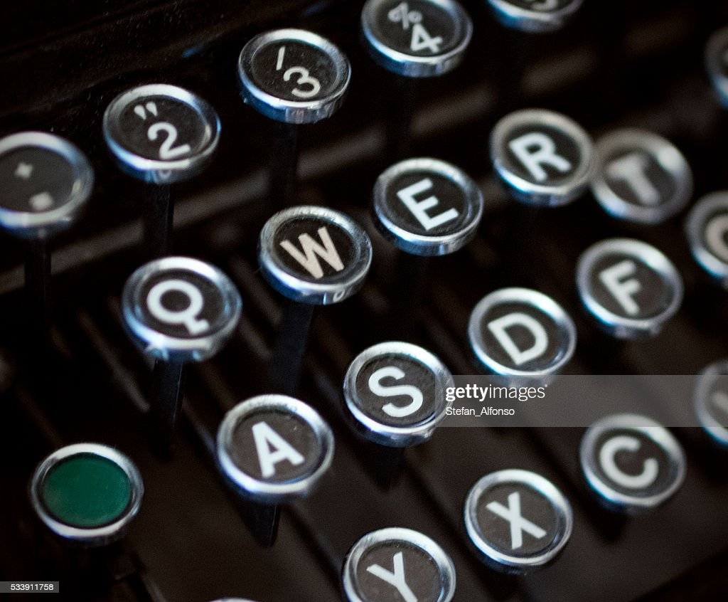 Old Typewriter Keyboard Closeup Stock Photo Getty Images