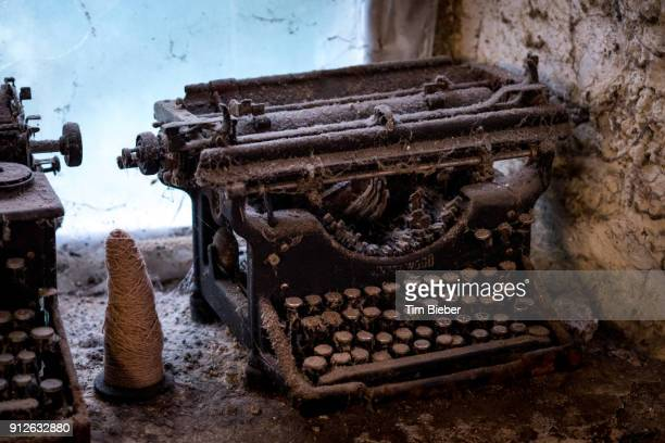 Old typewriters collect dust
