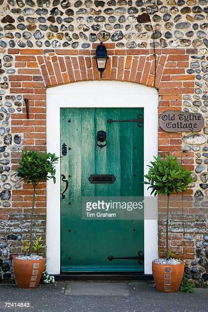 Old Tythe Cottage front door at Happisburgh, Norfolk, United Kingdom.