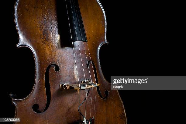 old upright bass - double bass stock photos and pictures