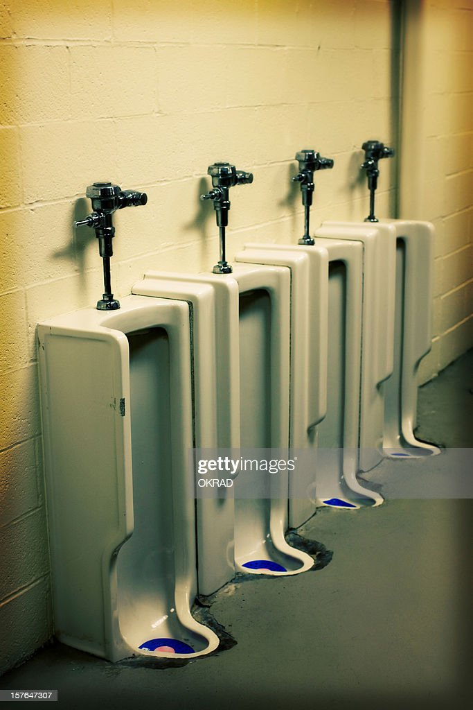 Old Utilitarian Urinal In Bathroom   Effect