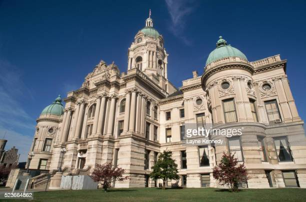 old vanderburgh county courthouse center - indiana stock pictures, royalty-free photos & images