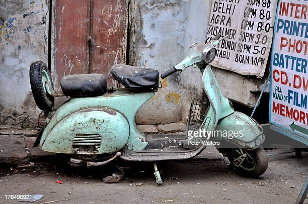 CONTENT] Old Vespa motor scooter in Udaipur India