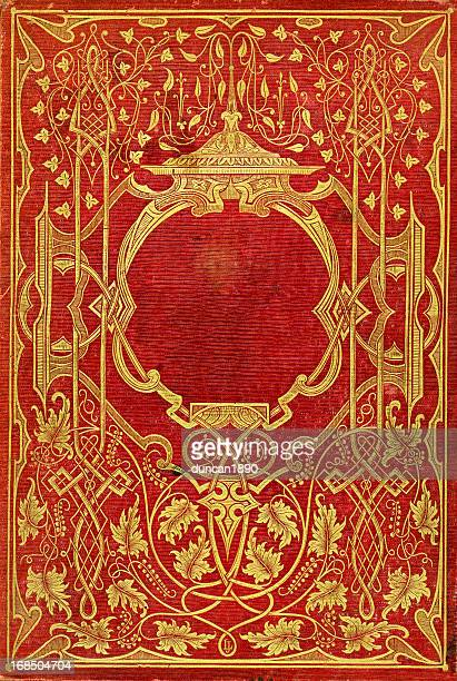 old victorian book cover - art nouveau stock pictures, royalty-free photos & images
