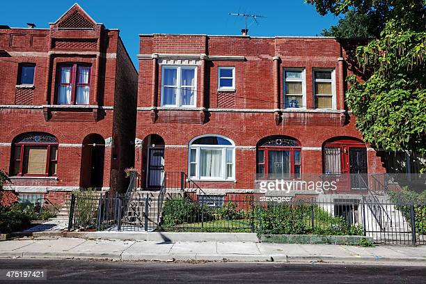 old victorian row houses in oakland,  chicago - south stock pictures, royalty-free photos & images