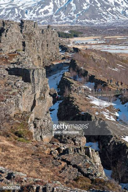 old viking parliament in thingvellir - plate tectonics stock photos and pictures