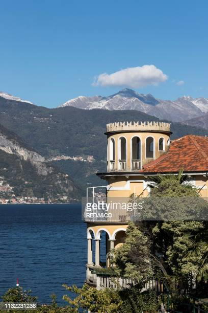 Old villas on the lake Dervio Como Lake Lombardy Italy Europe