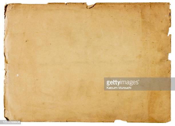 old vintage brown paper texture background - d'autrefois photos et images de collection
