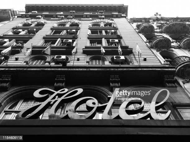 old vintage hotel - buenos aires fotografías e imágenes de stock