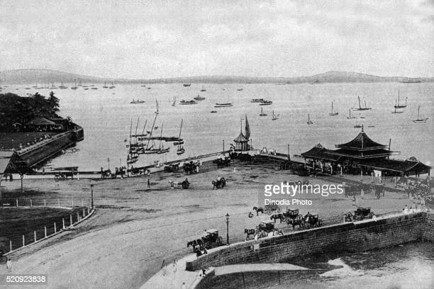 Old vintage photo of Apollo Bunder, Mumbai, maharashtra, India