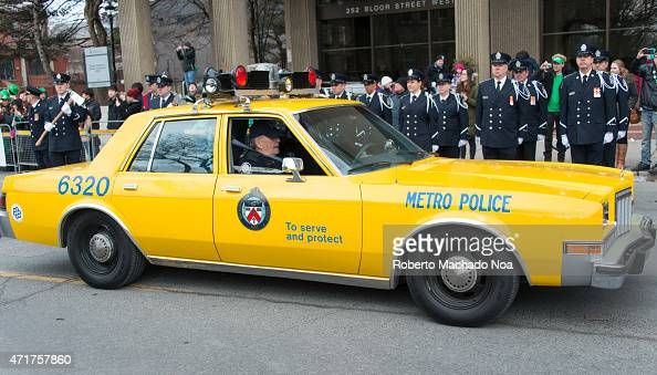 old vintage police car part of toronto police heritage partaking in    news photo