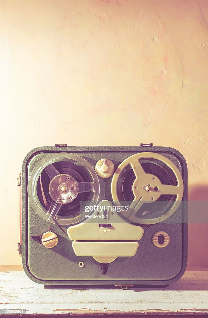 Old vintage tape recorder : Stock Photo