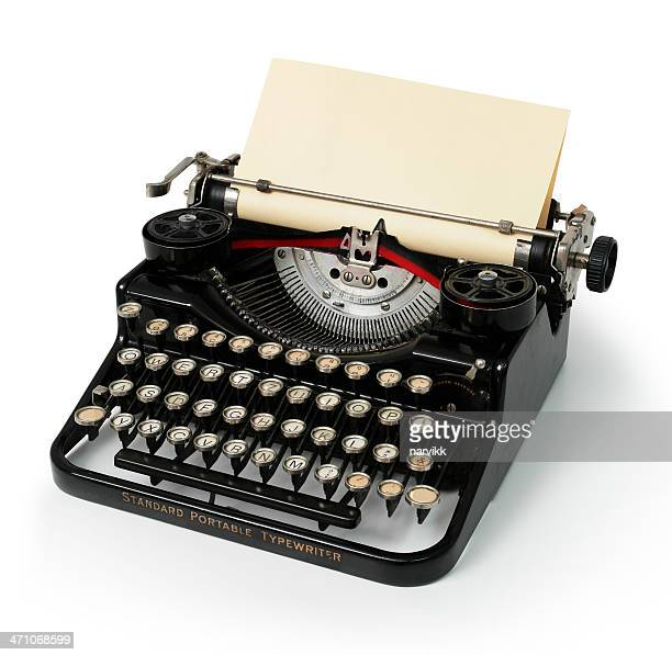 old vintage typewriter - antique stock pictures, royalty-free photos & images