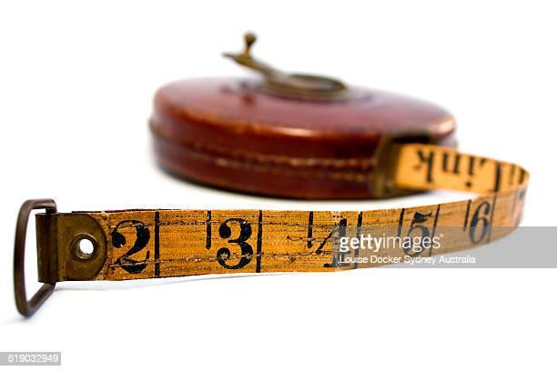 Old vintage wind up builders tape measure