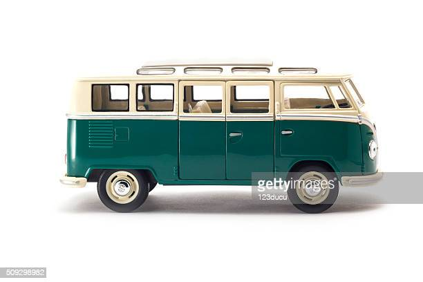 old volkswagen bus - mini van stock photos and pictures