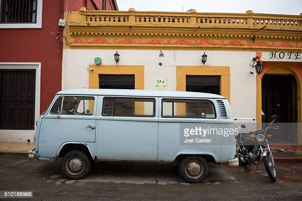 Old Volkswagen van in Chiapas, Mexico