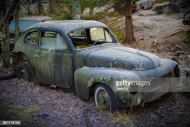old volvo - volvo stock pictures, royalty-free photos & images