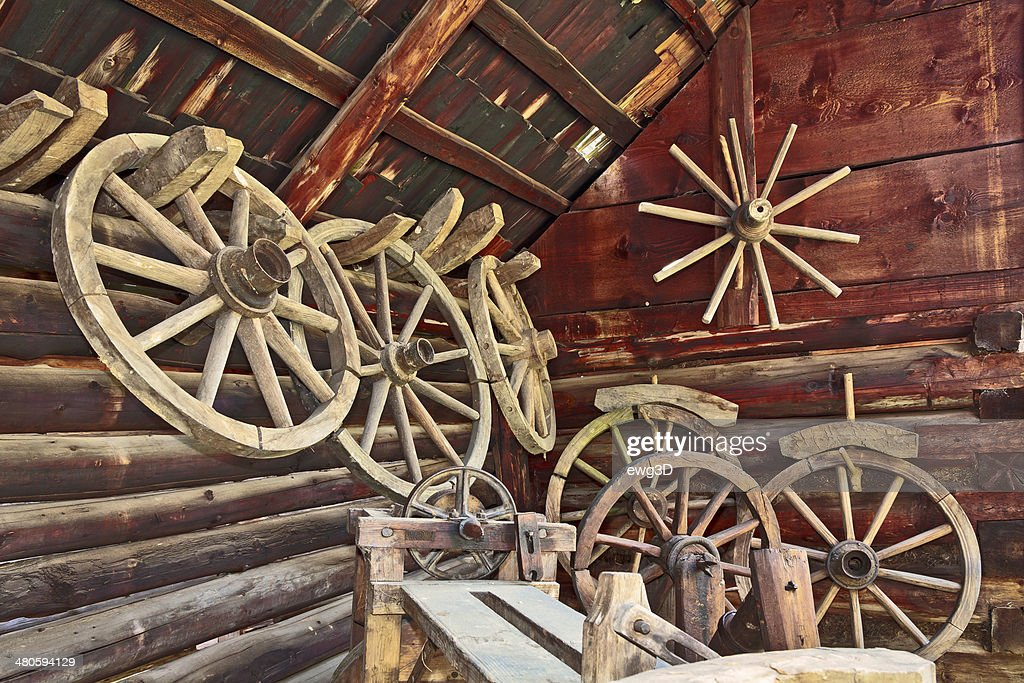 Old Wagonwheels : Stock Photo