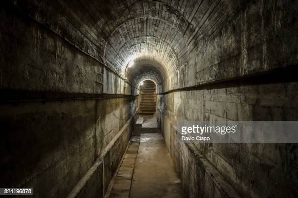 old wartime tunnel, corbiere, jersey - german culture stock pictures, royalty-free photos & images