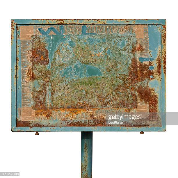 Old weathered metal sign