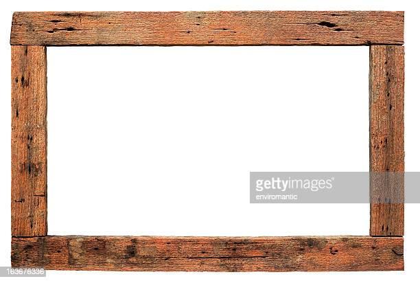 Edad Antigua frontera de madera natural.