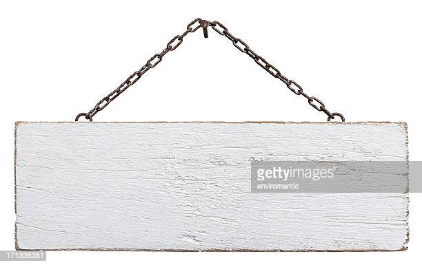 old weathered white wood signboard. - white wood stock pictures, royalty-free photos & images