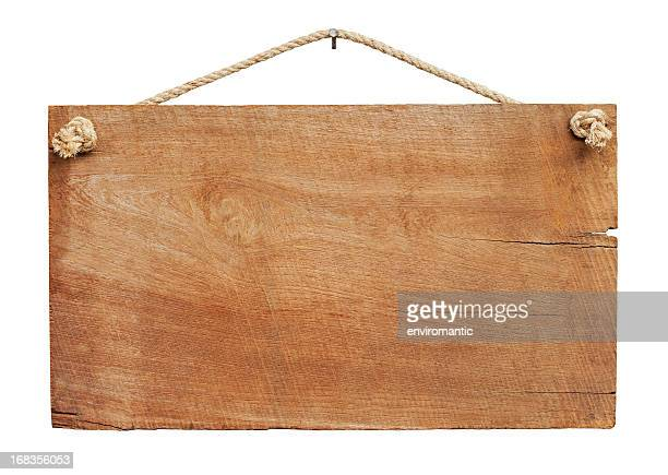 old weathered wood signboard background. - hout stockfoto's en -beelden