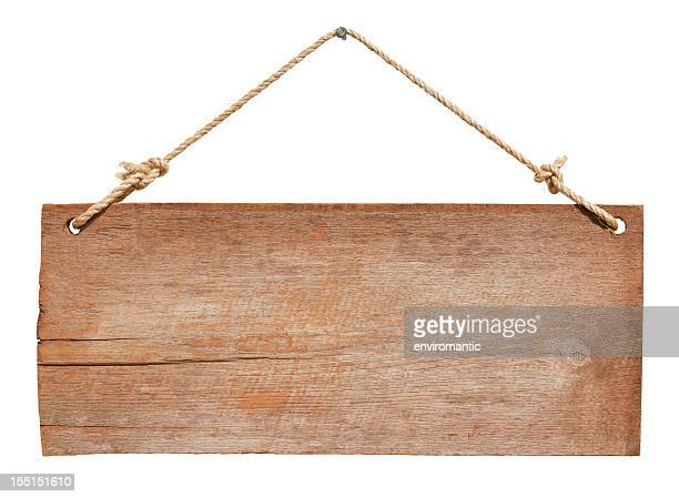 old weathered wood signboard. - hanging sign stock pictures, royalty-free photos & images