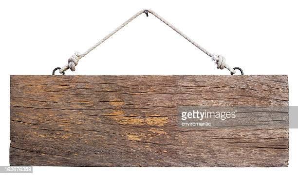 Vieja madera antigua signboard.